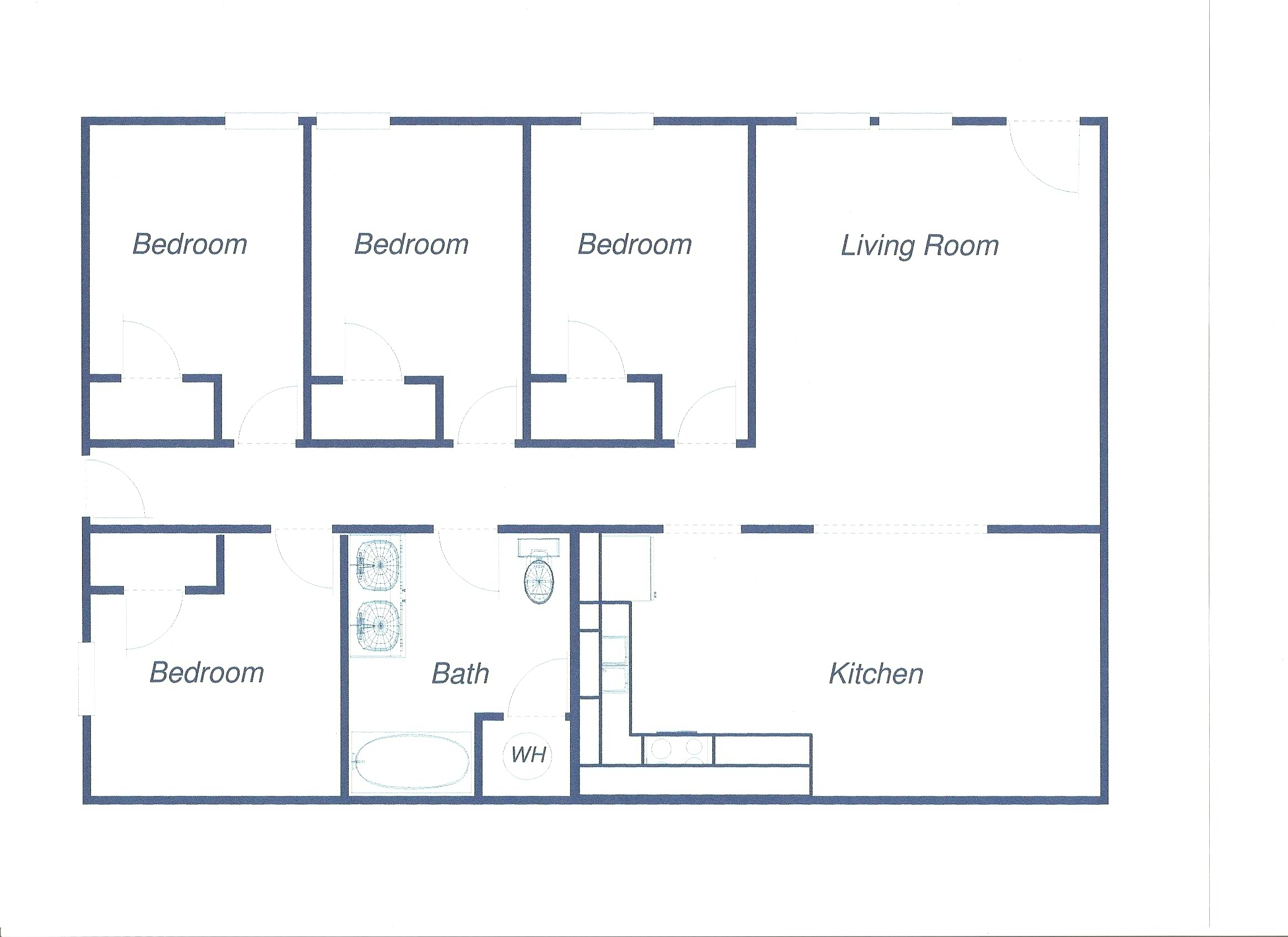 99 e cherry normal il student apartment 4 bedroom apartment 380 per